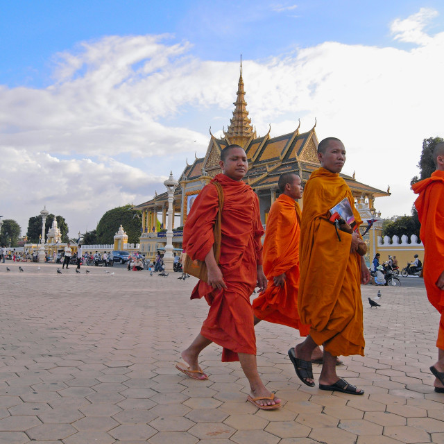 """Monks at Royal Palace"" stock image"