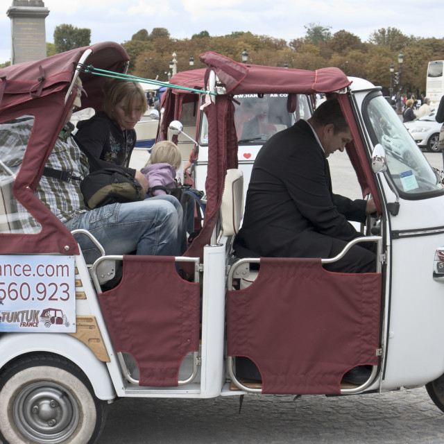 """Baby taxi, Paris, France"" stock image"
