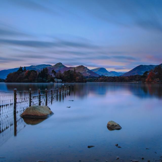 """""""Dawn At Derwentwater."""" stock image"""