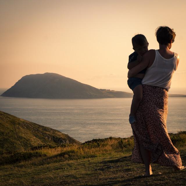 """Bardsey Island (Ynys Enlli)"" stock image"