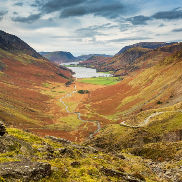"""""""A View To Buttermere"""" stock image"""