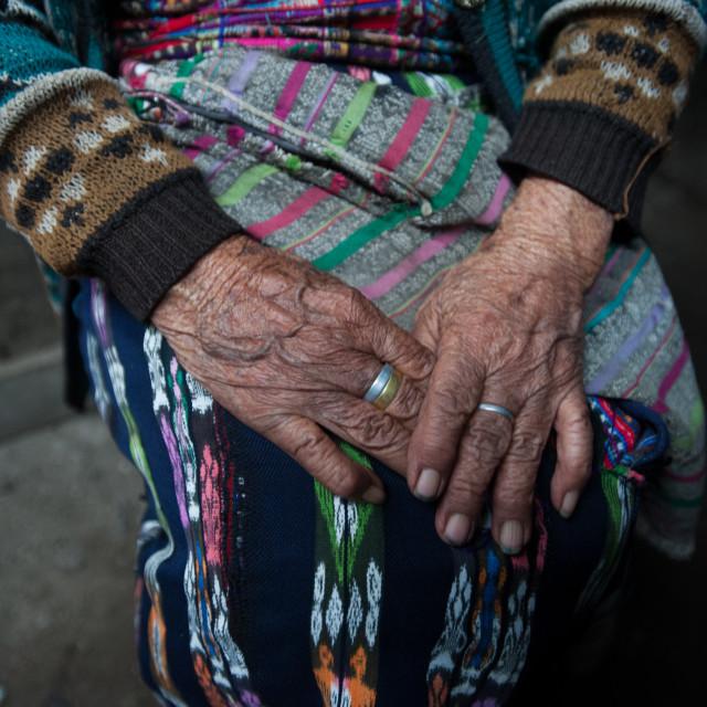 """Maya indigenous elderly in Guatemala"" stock image"