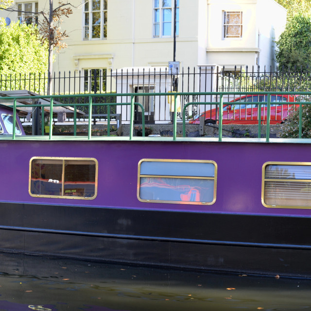 """Big canal barge"" stock image"