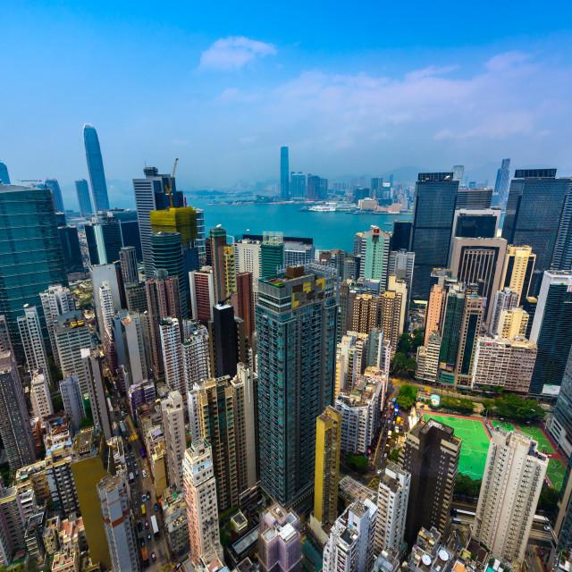 """""""Urban Jungle - Hong Kong (I)"""" stock image"""