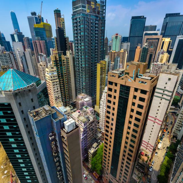 """Urban Jungle - Hong Kong (III)"" stock image"