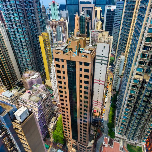 """Urban Jungle - Hong Kong (II)"" stock image"