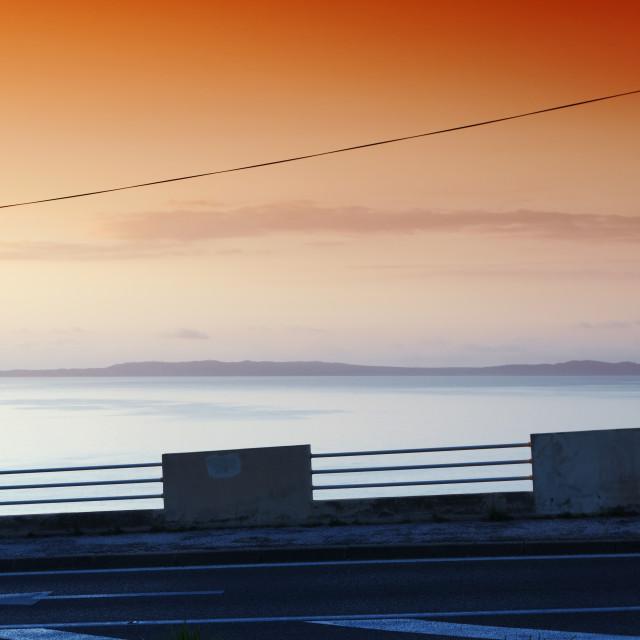 """French riviera coastal road"" stock image"