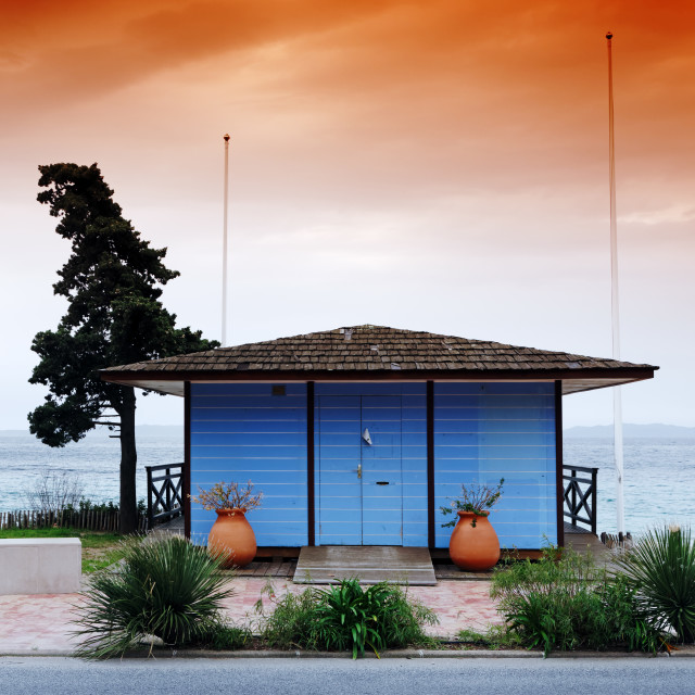 """""""The blue house"""" stock image"""