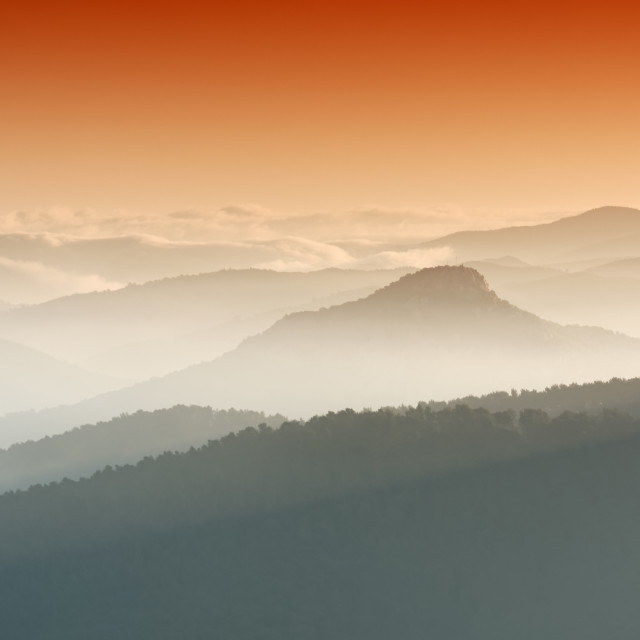 """""""The little Maure mountains"""" stock image"""