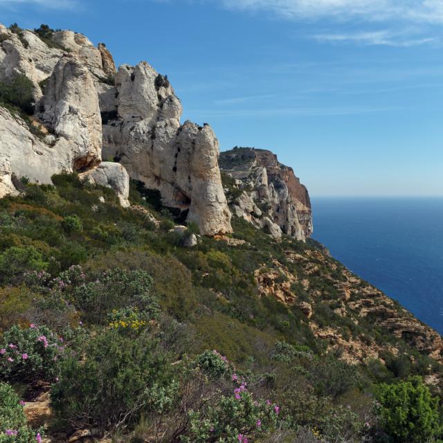 """Cassis cliffs"" stock image"