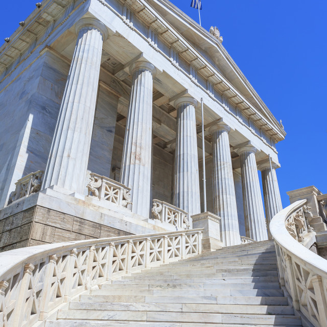 """""""National Library, Athens, Greece, Europe"""" stock image"""
