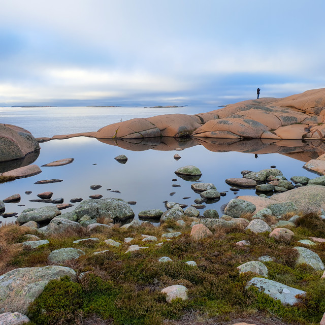 """A walk at the rocks"" stock image"