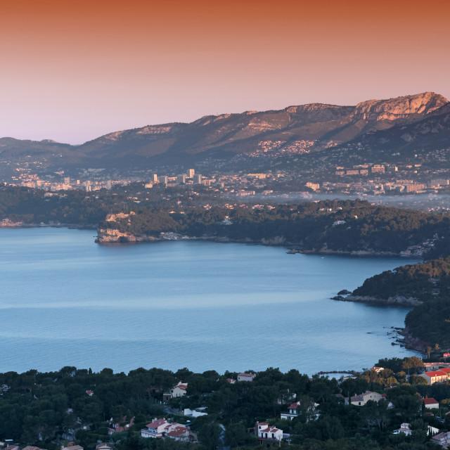 """""""Toulon bay"""" stock image"""