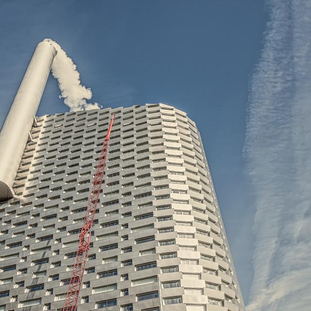 """""""Aluminium Power Plant in Copenhagen"""" stock image"""