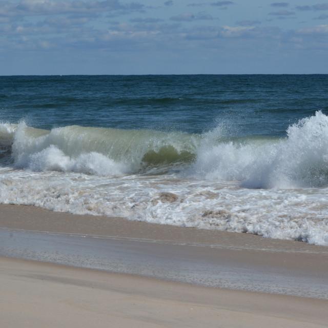 """Village Beach Quogue Long Island"" stock image"