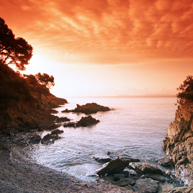 """The Layet rocky coast"" stock image"