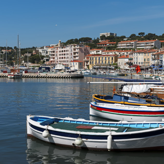 """""""Cassis harbor"""" stock image"""