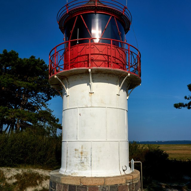 """lighthouse Gellen on Isle Hiddensee"" stock image"