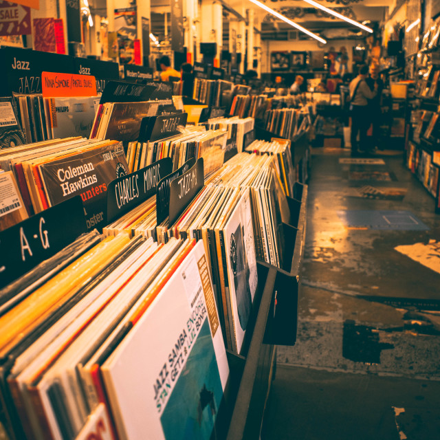 """Record store"" stock image"