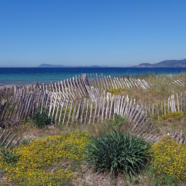 """Almanarre beach"" stock image"