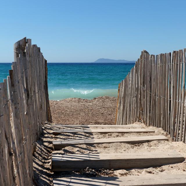 """La Madrague beach"" stock image"