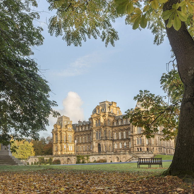 """Bowes Museum Autumn Colours"" stock image"