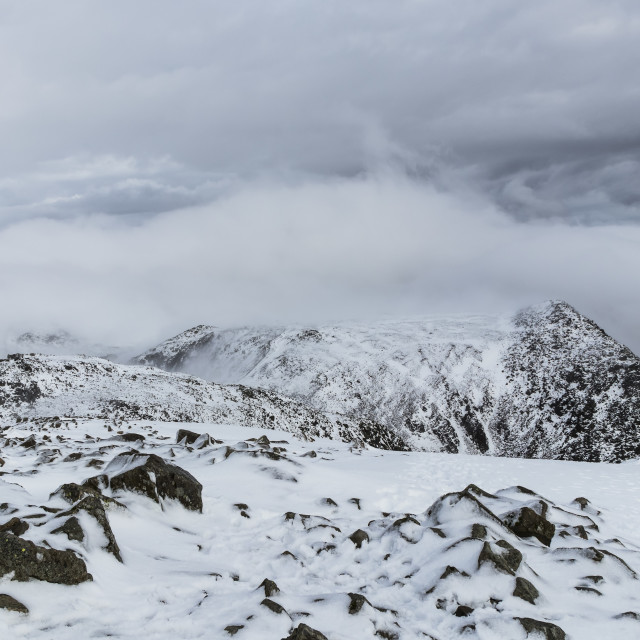 """""""The View North East from theSummit of Scafell Pike"""" stock image"""