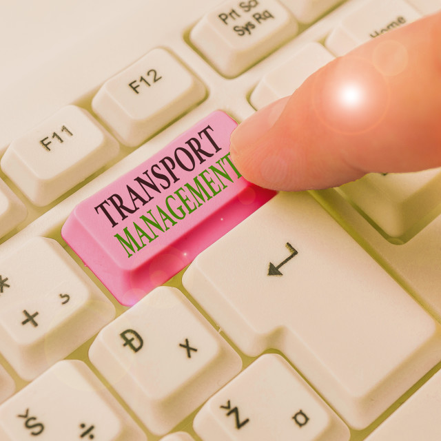 """""""Text sign showing Transport Management. Conceptual photo analysisaging aspect..."""" stock image"""