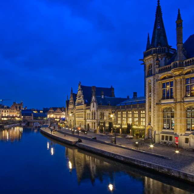 """Graslei in Ghent"" stock image"