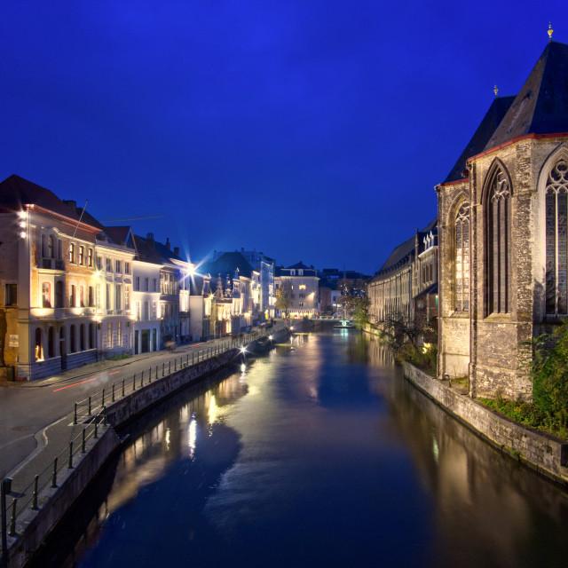 """Saint Michael's Church Ghent"" stock image"