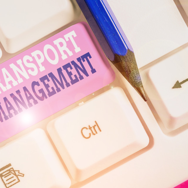 """""""Conceptual hand writing showing Transport Management. Business photo text..."""" stock image"""