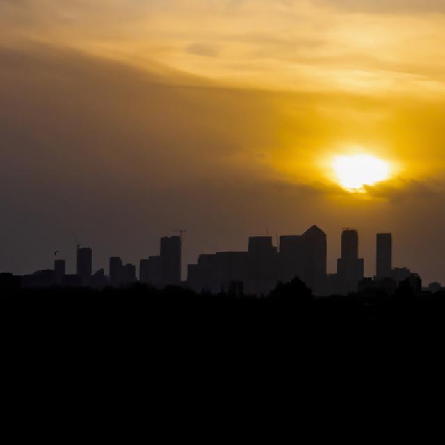 """Evening Descending Over London"" stock image"