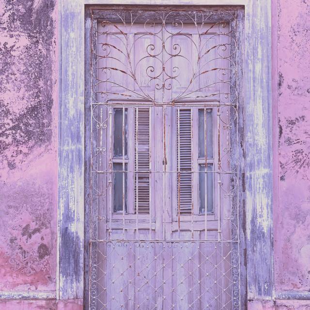 """""""Purple door"""" stock image"""