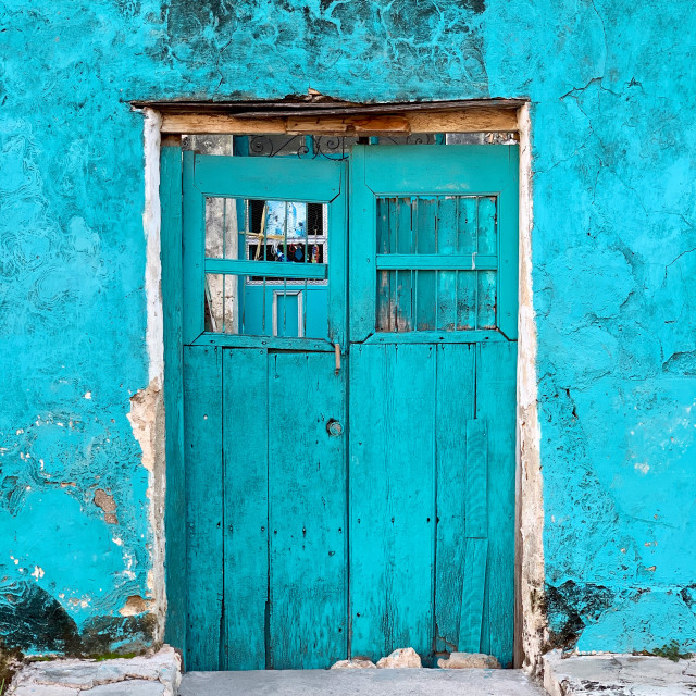 """""""Turquoise facade"""" stock image"""