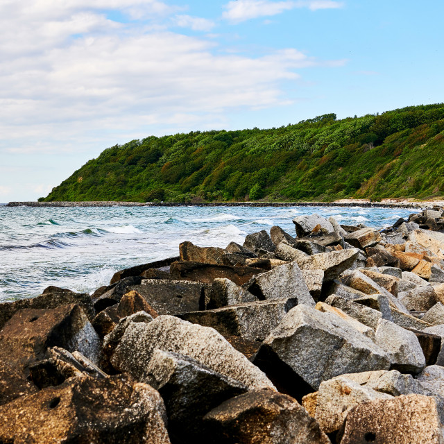 """view on northern part of Donbusch on island Hiddensee"" stock image"
