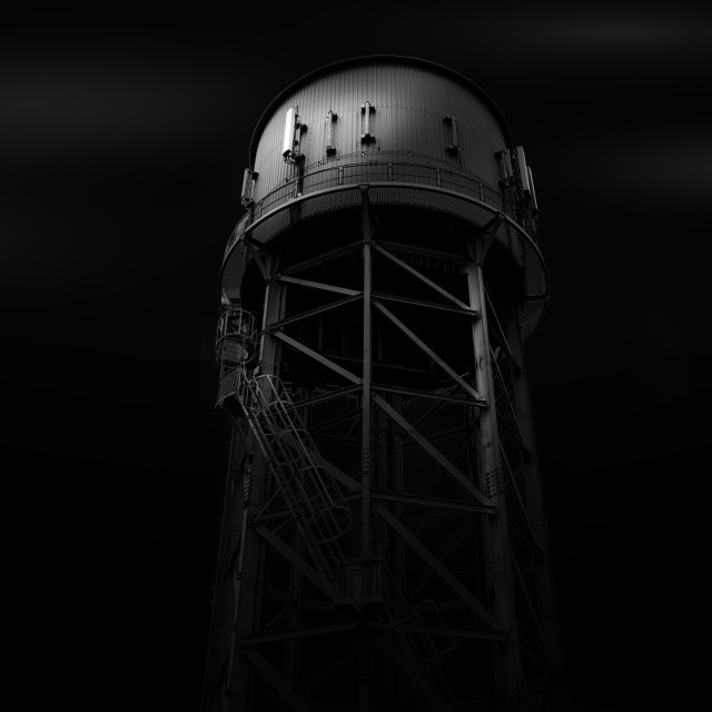"""Dovercourt Water Tower Essex"" stock image"