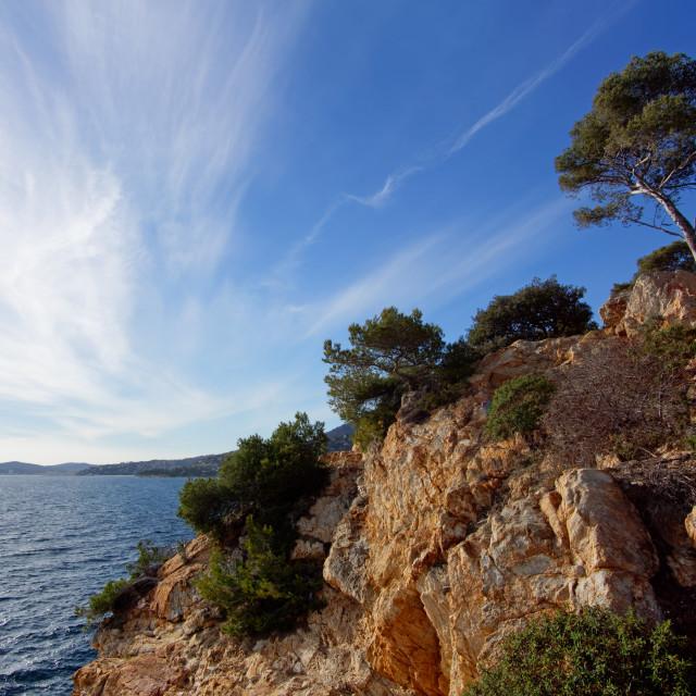 """Le Lavandou coast"" stock image"
