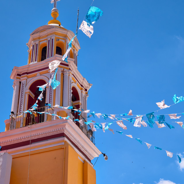"""""""Bell tower of Shrine of Our Lady of Remedies"""" stock image"""