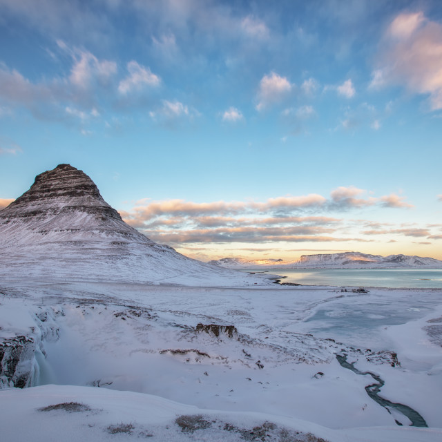 """Kirkjufell at Sunset"" stock image"