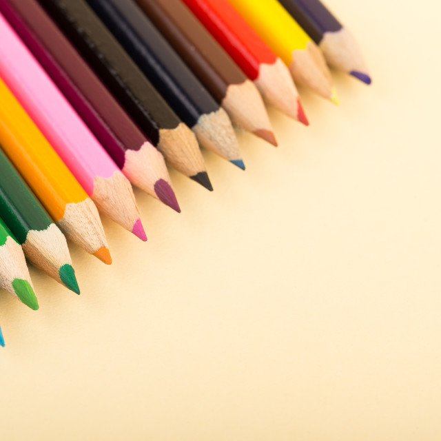 """School stationery on white background"" stock image"