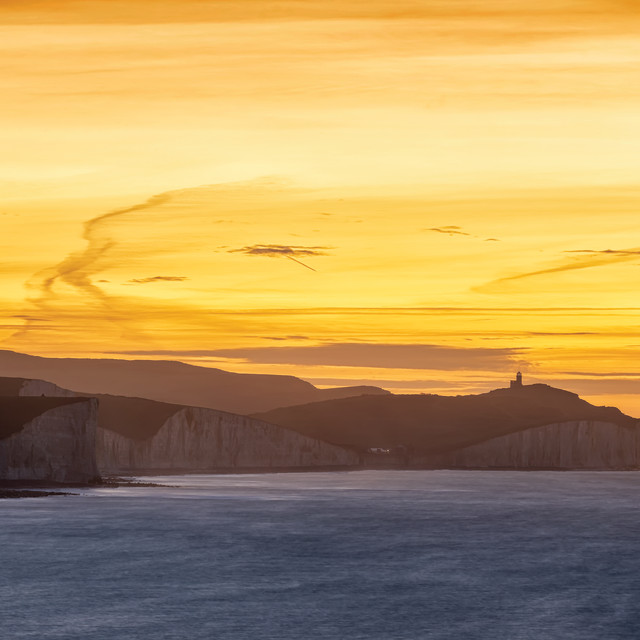 """""""Belle Tout from Seaford Nature Reserve"""" stock image"""