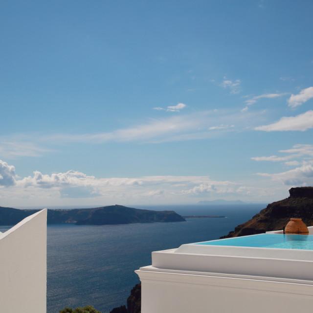 """""""Views of Santorini"""" stock image"""