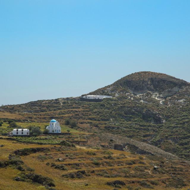 """""""Another Santorini church"""" stock image"""