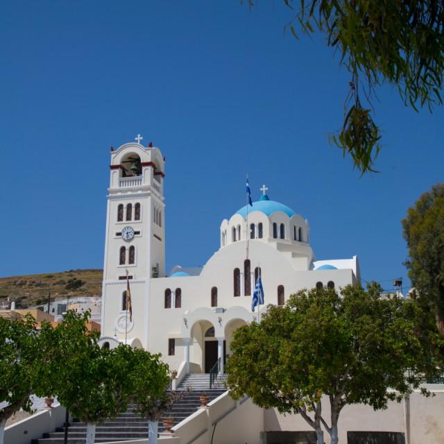 """The main orthodox church in Emborio Panagia Mesani"" stock image"