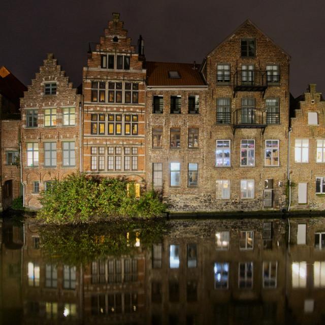 """Ghent riverside"" stock image"