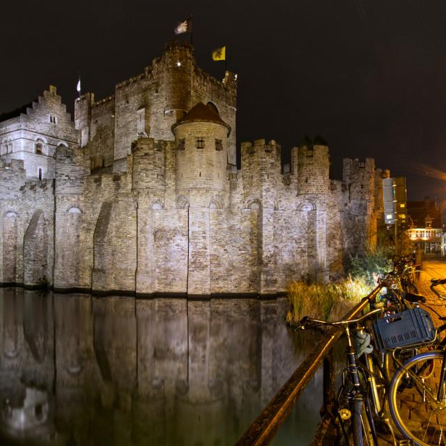 """Gravensteen castle"" stock image"