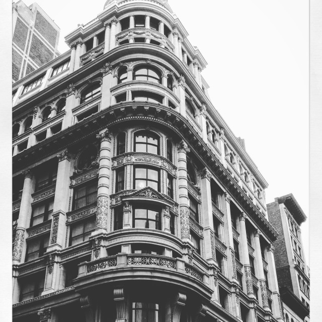 """""""Old New York Building"""" stock image"""