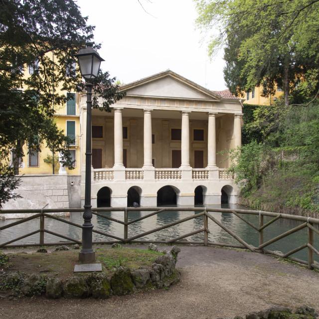 """The Valmarana loggia in Vicenza, Italy"" stock image"