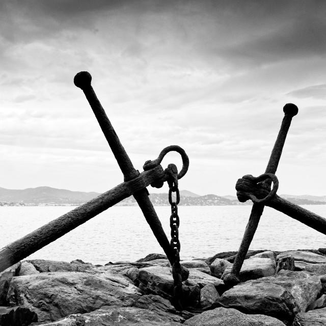"""Saint Tropez coast"" stock image"