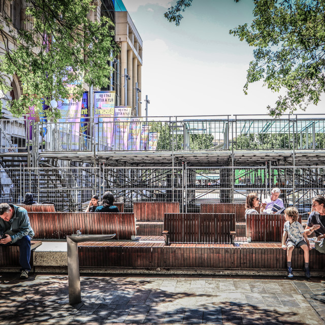 """""""people lazing and sitting down chilling in Perth Australia"""" stock image"""
